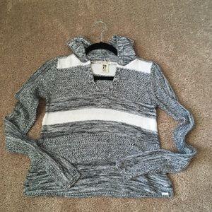 ROXY Hooded Striped Sweater (New)